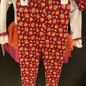 Little Lass Matching Sets - Girls Thanksgiving outfit 3T NWT
